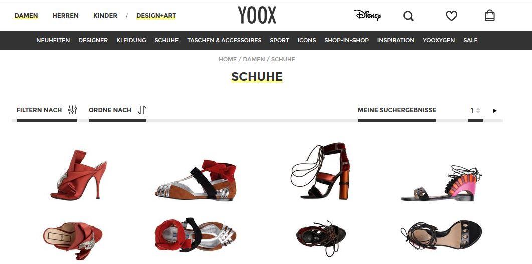 yoox schuhe