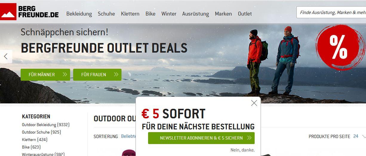 bergfreunde sale
