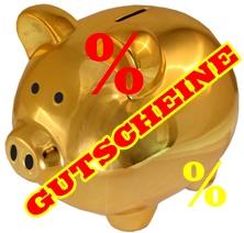 Sparschwein Gutscheine