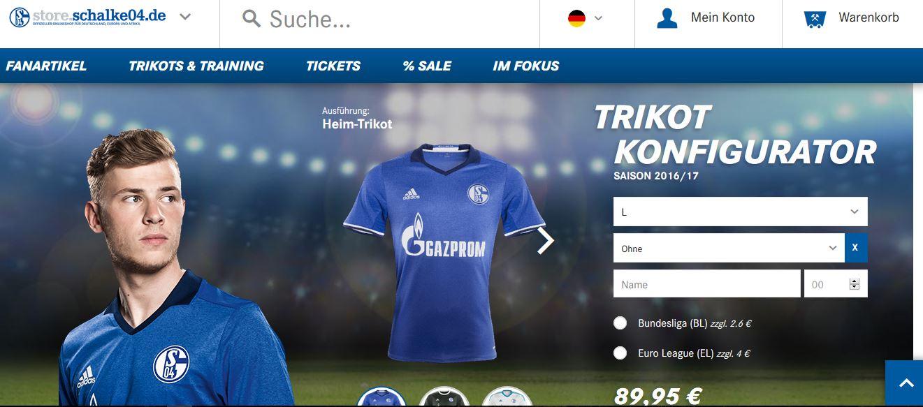 FC Schalke Shirt Konfigurator