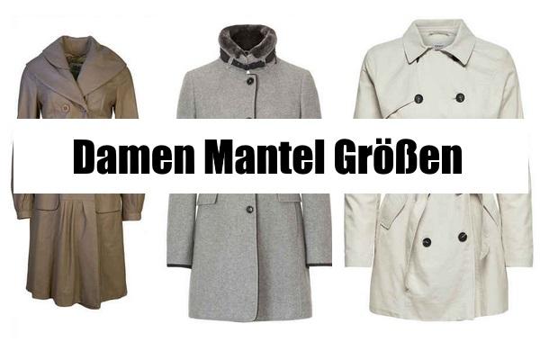 official photos eac00 5e1a2 Damen Mantel Grössen | Grössen Ratgeber
