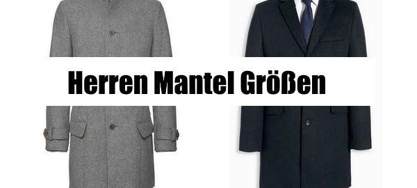 herren Mantel Größen ratgeber