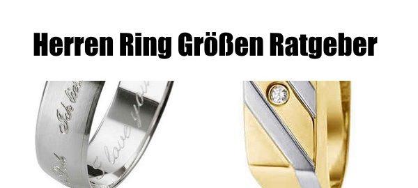herren ring Größen ratgeber