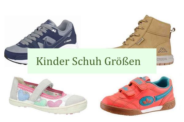 Kinder Schuh Grössen Größen