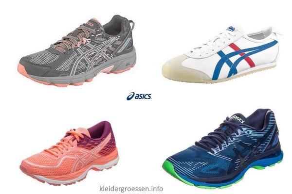 Asics Schuhgrössen – Größen