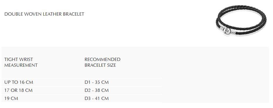 double woven leather bracelet größen