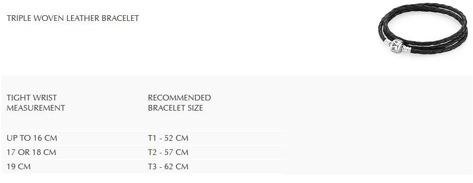 triple woven leather bracelet größen
