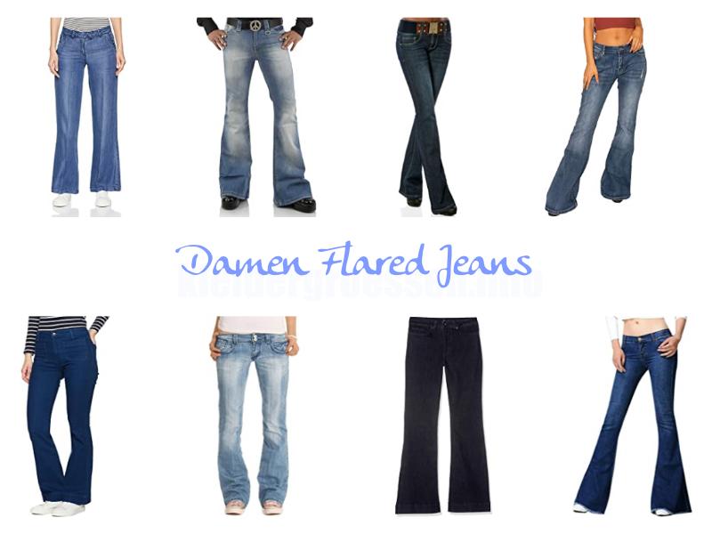 damen flared jeans