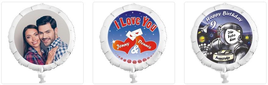 Fotoballons online bestellen, personalisierte Folienballons mit Foto des Kindes, Fotogeschenke zum
