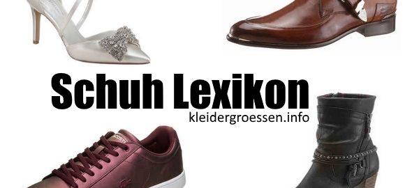 Schuhe Lexikon