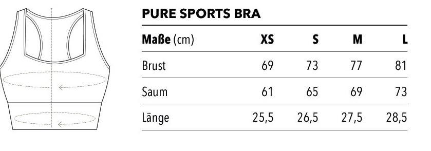 pure sports bra