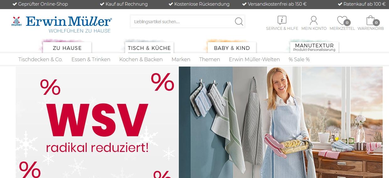 Erwin Müller Onlineshop