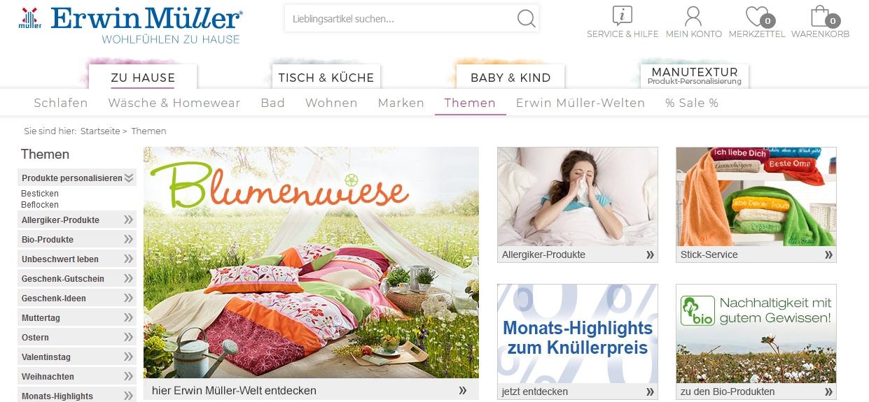 Themen im Erwin Müller Online-Shop