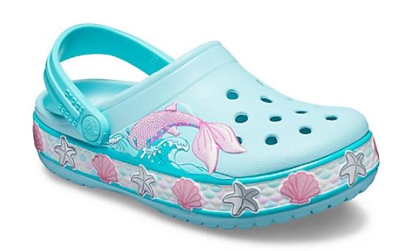 crocs mädchen schuhe mermaid band clog