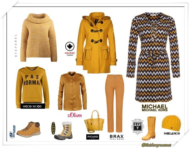 gelbe fashion damen
