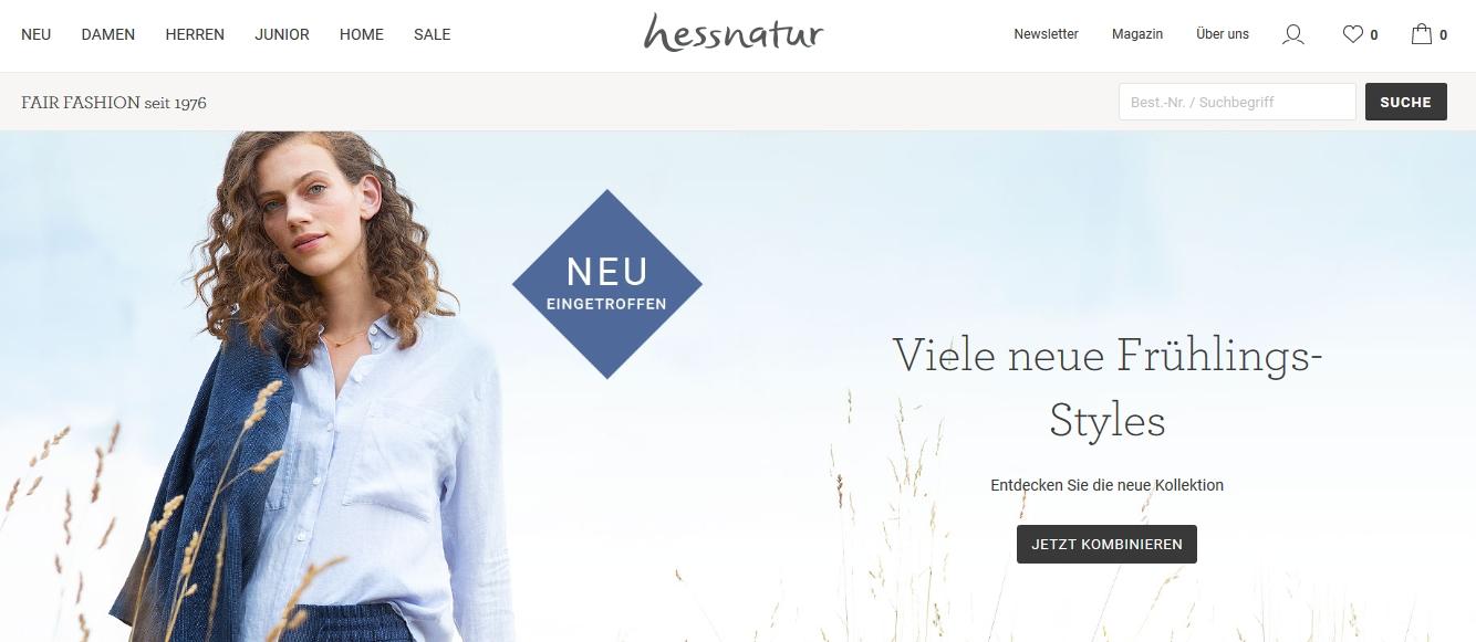 Hessnatur Bio Mode für die ganze Familie
