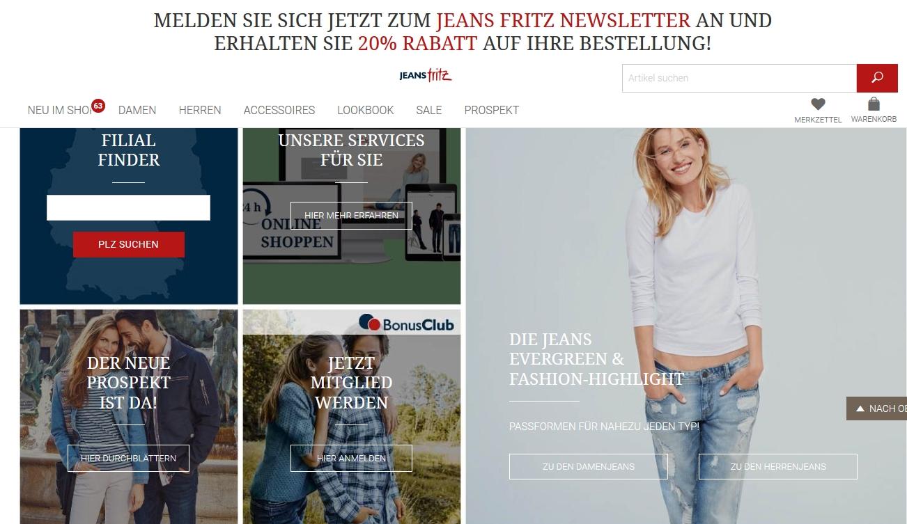 Jeans Shop Jeans Fritz