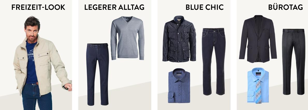 Outfits Blue Chic Herren Adler