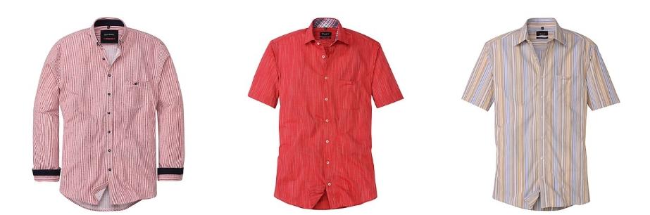 gestreifte Herren-Hemden für Freizeit und Business ADLER