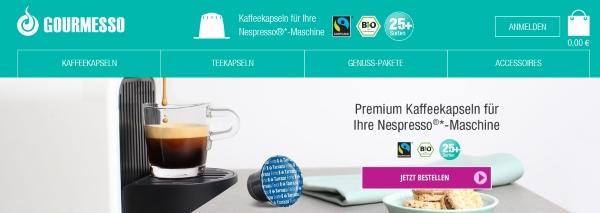 Gourmesso Nespresso® Kapseln Alternative 35% günstiger