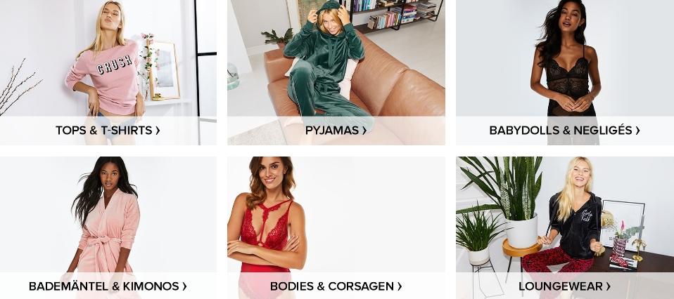 Nachtwäsche für Damen jetzt online shoppen bei Hunkemöller