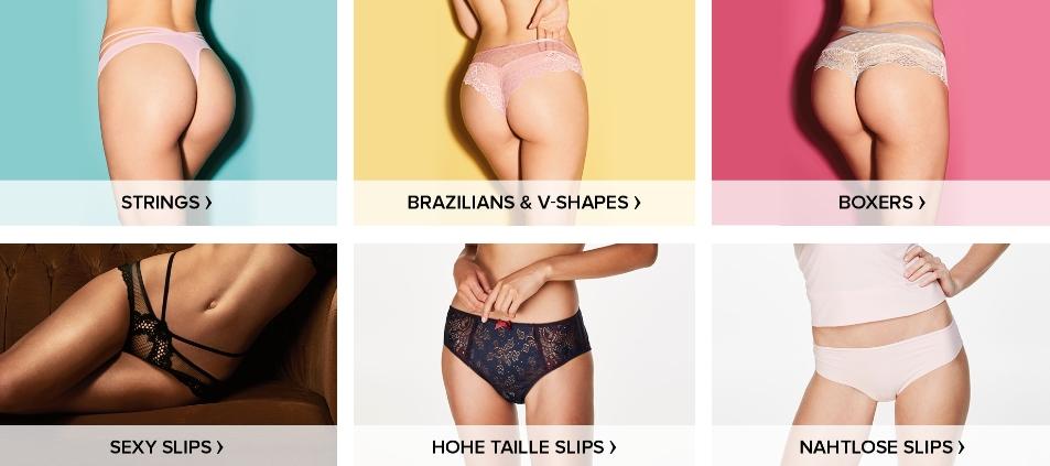 Slips in vielen Farben und Formen findest du bei Hunkemöller