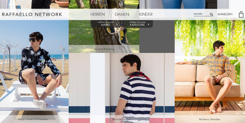 Designer Mode Kleidung Online Shop, Herrenbekleidung der besten Marken