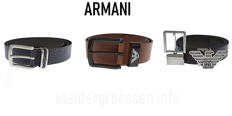Armani Herren Gürtel