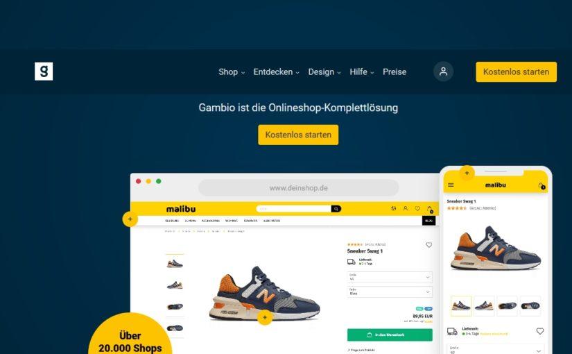 Gambio - Onlineshop-Komplettlösung