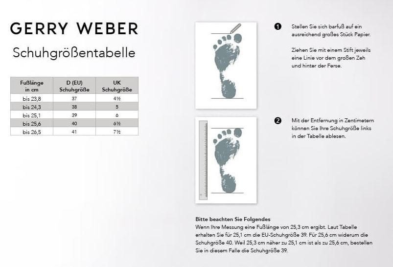 Gerry Weber schuhgrössen