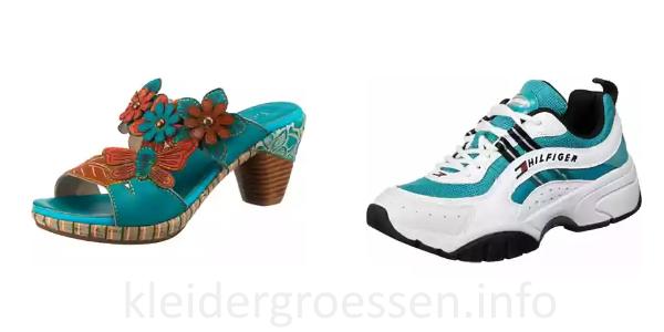 Türkise Schuhe