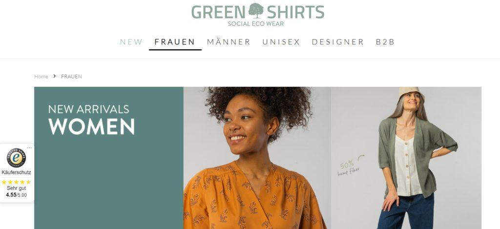 green shirts frauen