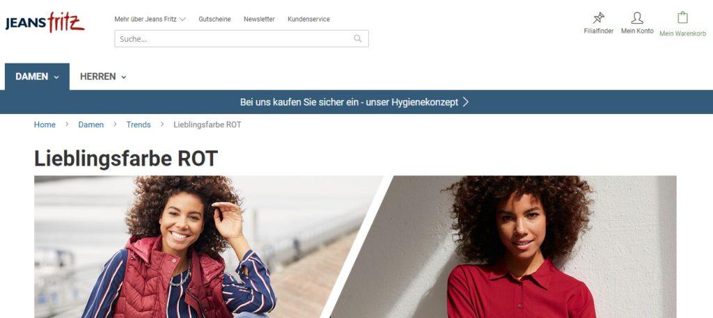 Jeans Fritz Trend Farben