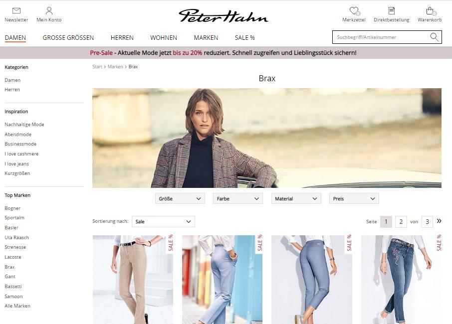 Peter Hahn Brax Fashion