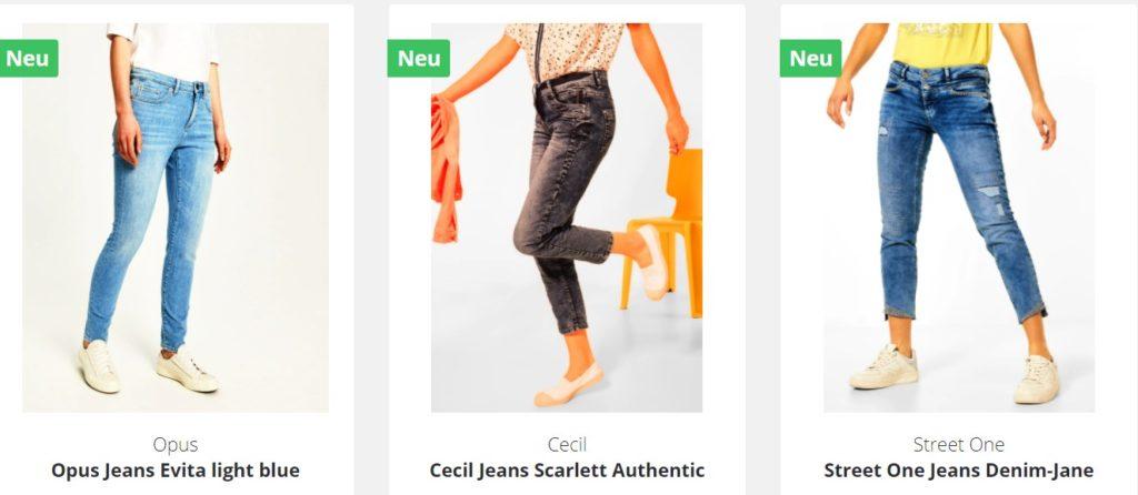 Damen Jeans Größen