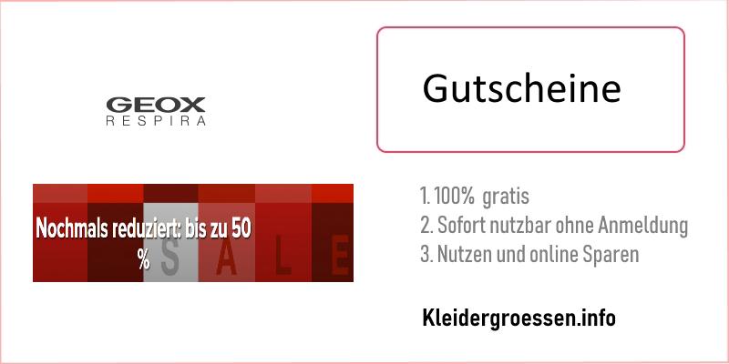 GEOX Gutscheine