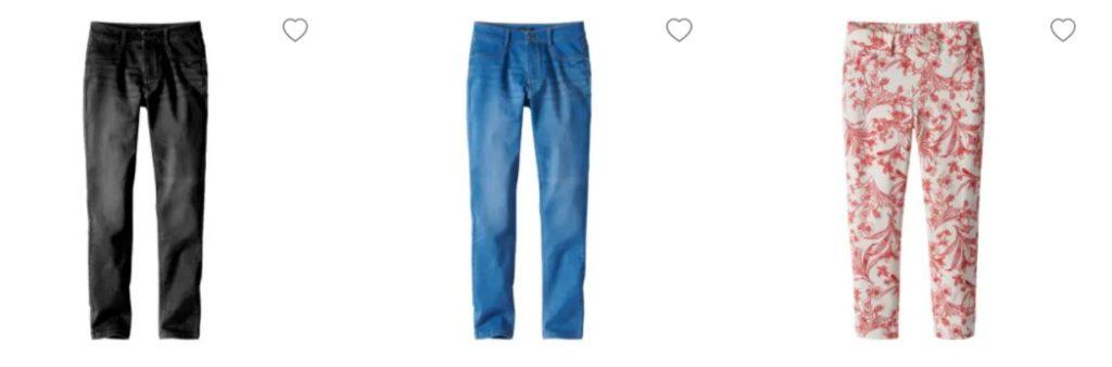 Damen Hosen Jeans Größentabelle