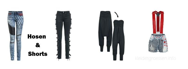 Damen Hosen & Shorts Größentabelle