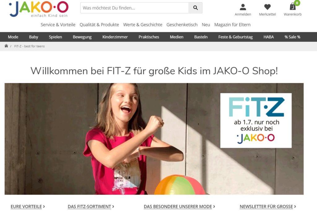 fit-z mode für kinder