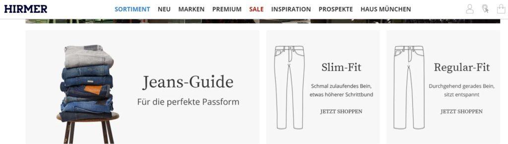 hirmer jeans guide