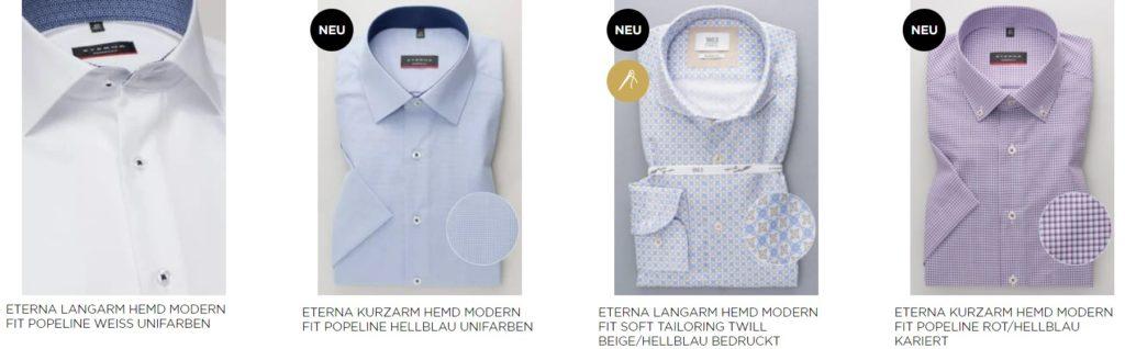 Modern Fit Hemden Eterna
