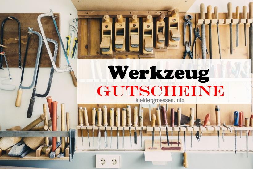 Werkzeug Gutscheine