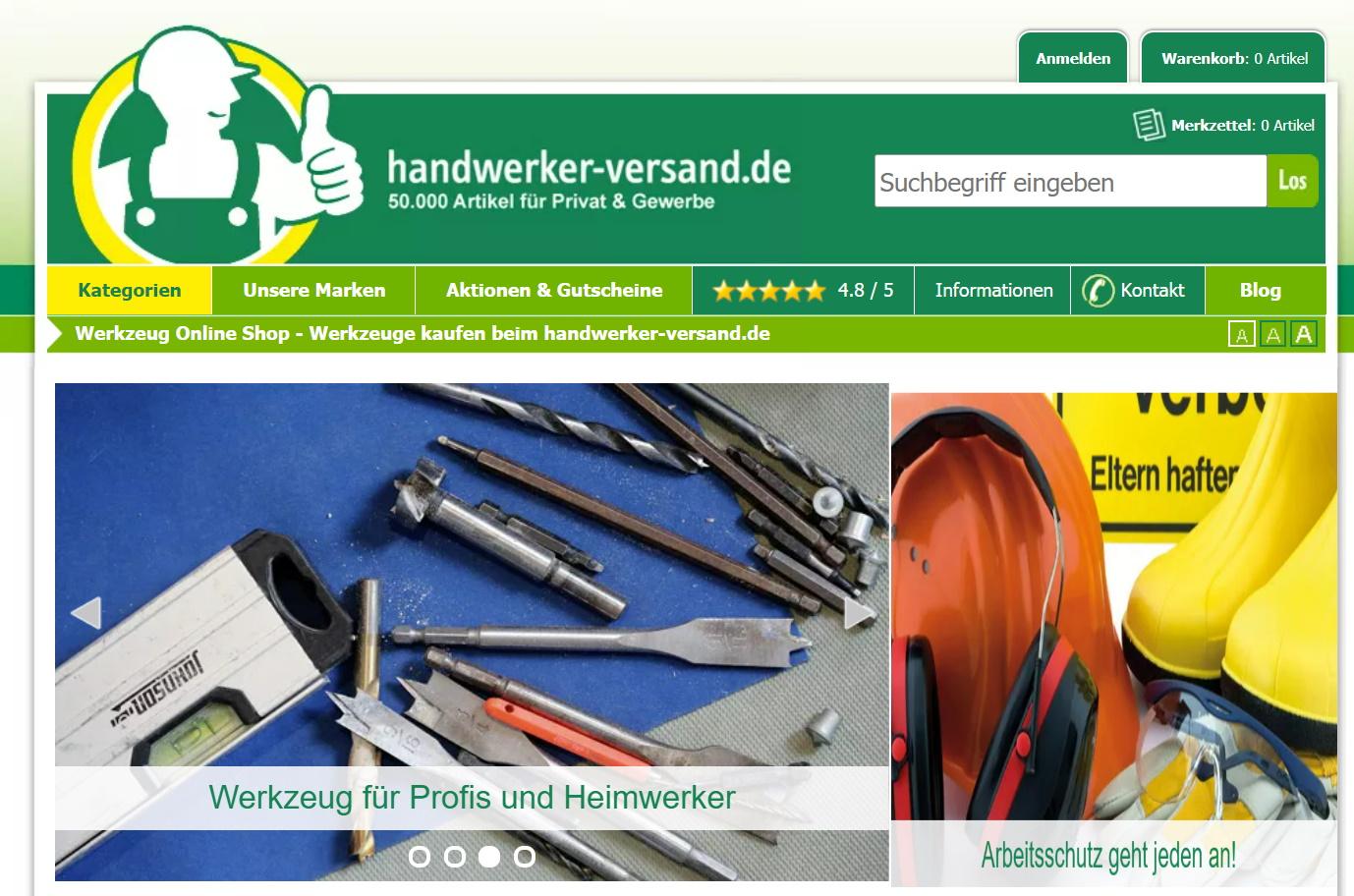 handwerkerversand werkzeuge baumarkt